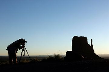Fotograf im Monument Valley von Gerrit de Heus