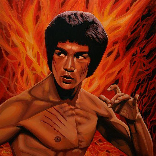 Bruce Lee 2 Schilderij Enter The Dragon van Paul Meijering