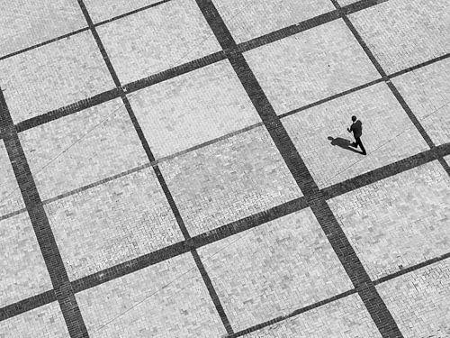 Minimalistische zwart-witfoto in Kiev