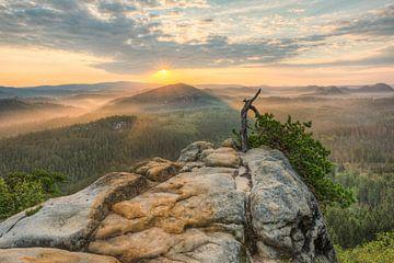 A morning in Saxon Switzerland van Michael Valjak