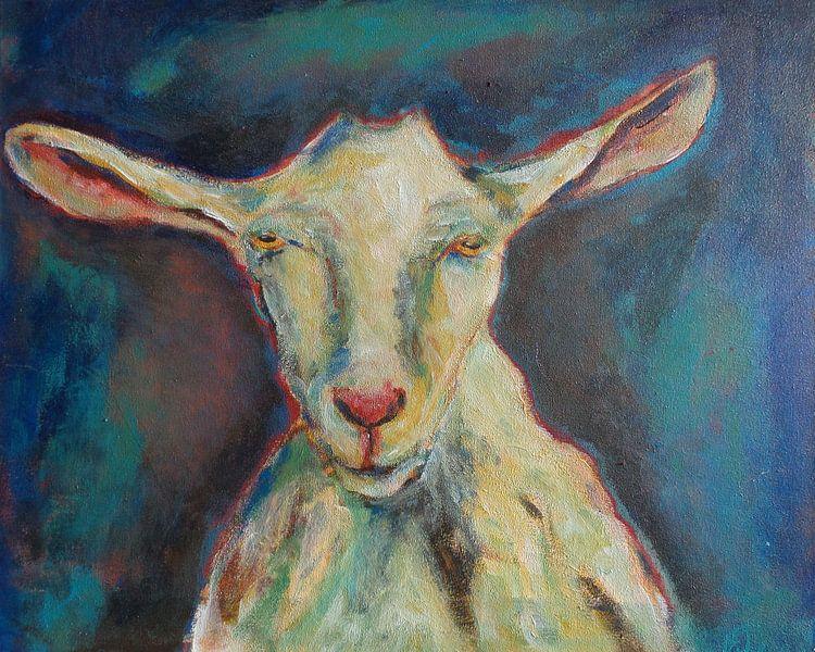 Schilderij Geit van Eveline van Oudbroekhuizen