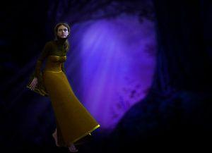 Vrouw in Magisch Landschap van ellenilli .