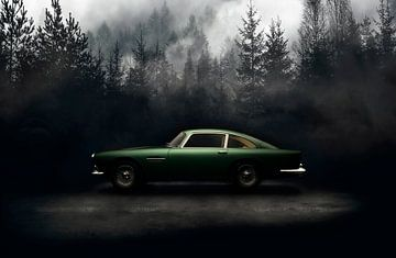 Aston Martin DB4 1960 van Thomas Boudewijn