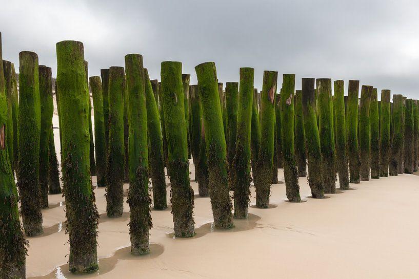 Golfbrekers aan de Opaalkust in Frankrijk van Gerry van Roosmalen