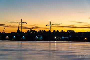 De avond zon over Svenborg van Tina Linssen