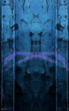 Figuur in het blauw van Fredo Nieuwenhuis