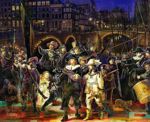 De Nachtwacht en de Amsterdamse grachtengordel