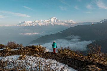 Zonsopkomst in de Himalaya van Juul Sam