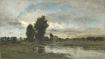 Französische Flussszene, Charles-François Daubigny