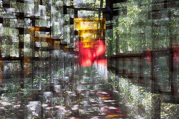 Image abstraite de vitraux - Fenêtres sur Marianne van der Zee
