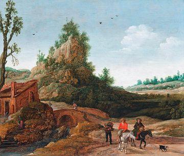 Eine Landschaft mit Reisenden, Esaias van de Velde