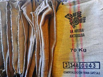 Kaffeesäcke van