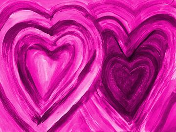 Zwei Herzen vereint -lila van Katrin Behr
