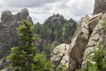 Beklimming van Col de Bavella