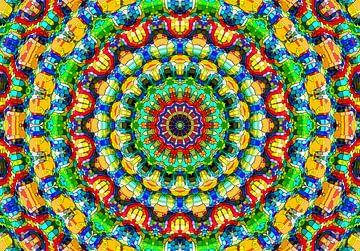 Hippie-Zeit! (Mandala in Gelb) von Caroline Lichthart