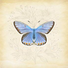 Icarusblauwtje Vintage van Teuni's Dreams of Reality