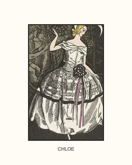 Chloe | Historischer Art Deco Modedruck | Retro-Design mit modernem Look