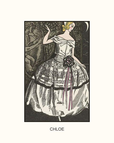 Chloe | Historische Art Deco mode prent | Retro design met moderne look van NOONY