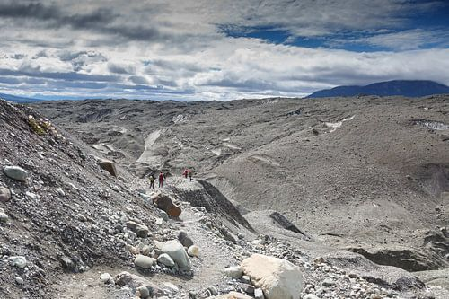 Gletsjer hiking op de Root Glacier van Menno Schaefer