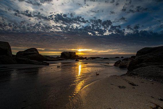 Zuid-Afrika, Bloubergstrand Beach van Willem Vernes