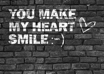 Graffiti für Verliebte in schwarz und weiß von KalliDesignShop