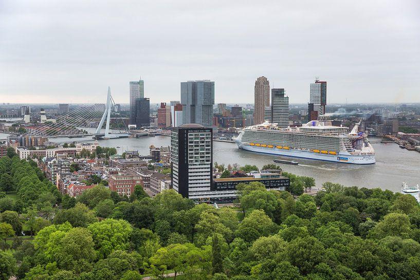 Harmony of the Seas in Rotterdam van MS Fotografie   Marc van der Stelt