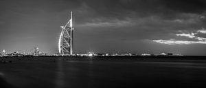 Burj al Arab black and white