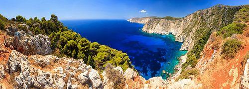 Zakynthos kustlijn panorama