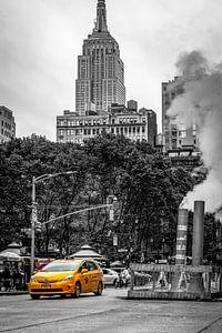 Gele taxi (yellow cab) New York van Freek van Oord