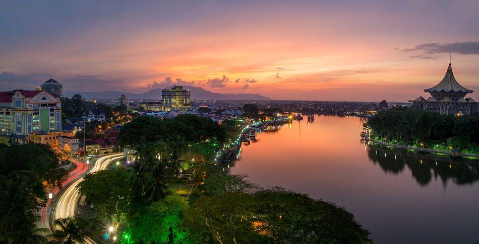 Sunset Kuching, Borneo