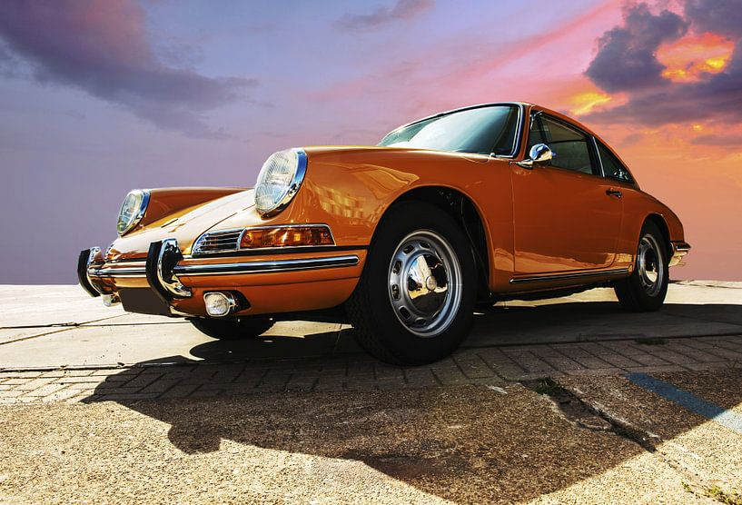 Porsche oranje van Brian Morgan