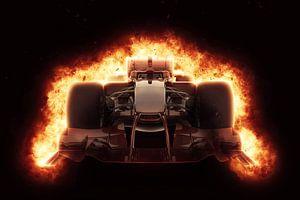 F1 Formel 1 Auto mit speziellem Feuereffekt von Natasja Tollenaar