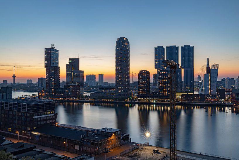 Rotterdam zonsondergang Wilhelminapier van Teuni's Dreams of Reality