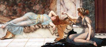 John William Godward, Unheil und Finsternis - 1895 von Atelier Liesjes