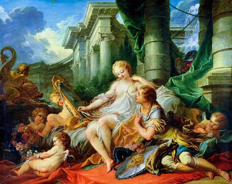 Rinaldo und Armida (Amor), François Boucher, 1734 von Atelier Liesjes