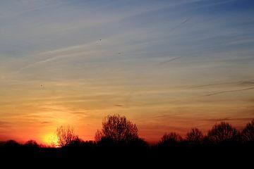 A beautiful sunset in Amsterdam van Hernani Costa