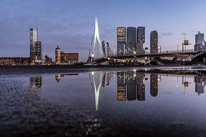 Skyline von Rotterdam in Reflexion von Marjolijn Nugteren