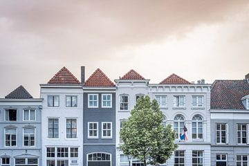 Scène de rue de maisons monumentales à Den Bosch | Pays-Bas