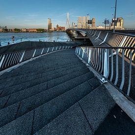 Construction d'escaliers sur le pont Erasmus sur Gerry van Roosmalen