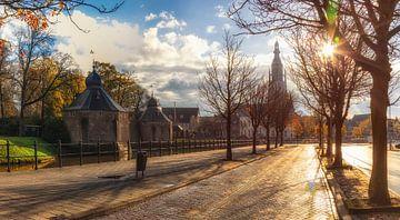 Warmer Sonnenaufgang in Breda von Martijn Mureau