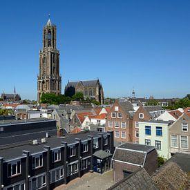 Binnenstad van Utrecht met Domtoren en Domkerk van Merijn van der Vliet