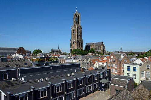 Binnenstad van Utrecht met Domtoren en Domkerk van