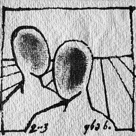 Inkt op papier van Kuba Bartyński