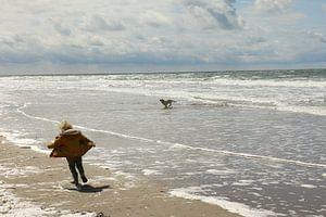 Jongen en hond van Pim van der Horst