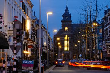F.C. Dondersstraat in Utrecht met het Ooglijdersgasthuis sur Donker Utrecht