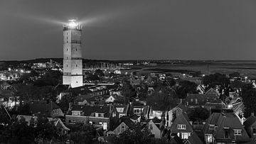 Die Brandaris in Schwarz-Weiß, Terschelling von Henk Meijer Photography