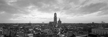 Utrecht, panorama skyline avec le Dom sur Origami Art