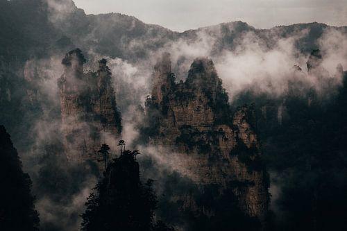 Mist door de bergen