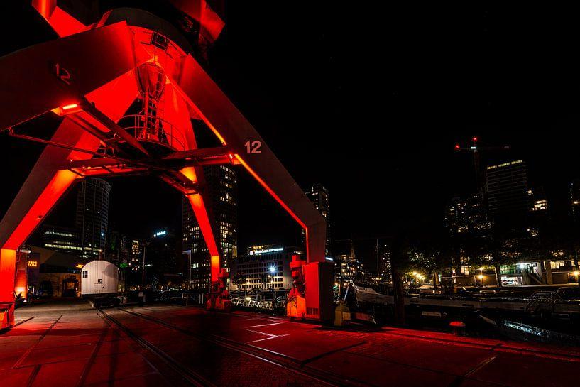 Rotterdam bij nacht de Haven van Brian Morgan