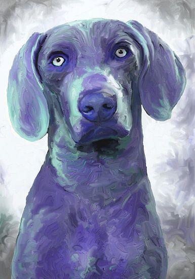 blauer Hund van Andrea Meyer